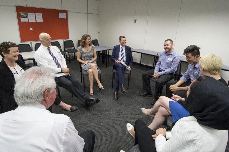 Ucan2 participants and partners tell Minister Christian Porter about the program